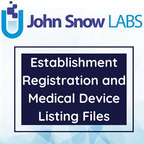 Establishment Registration and Medical Device Listing Files