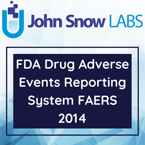 FDA Drug Adverse Events Reporting System FAERS 2014