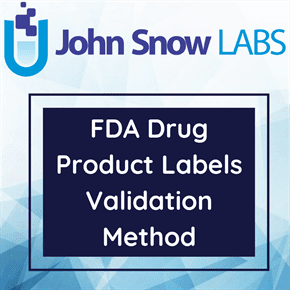 FDA Drug Product Labels Validation Method