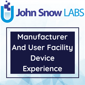 Manufacturer And User Facility Device Experience