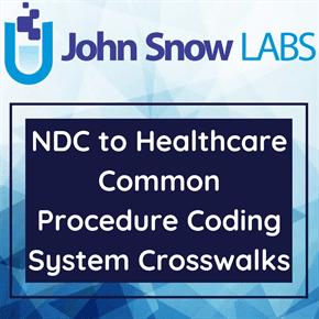 NDC to Healthcare Common Procedure Coding System Crosswalks