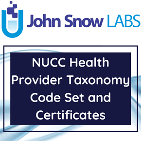 NUCC Health Provider Taxonomy Code Set and Certificates