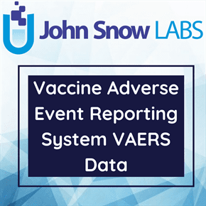 Vaccine Adverse Event Reporting System VAERS Data
