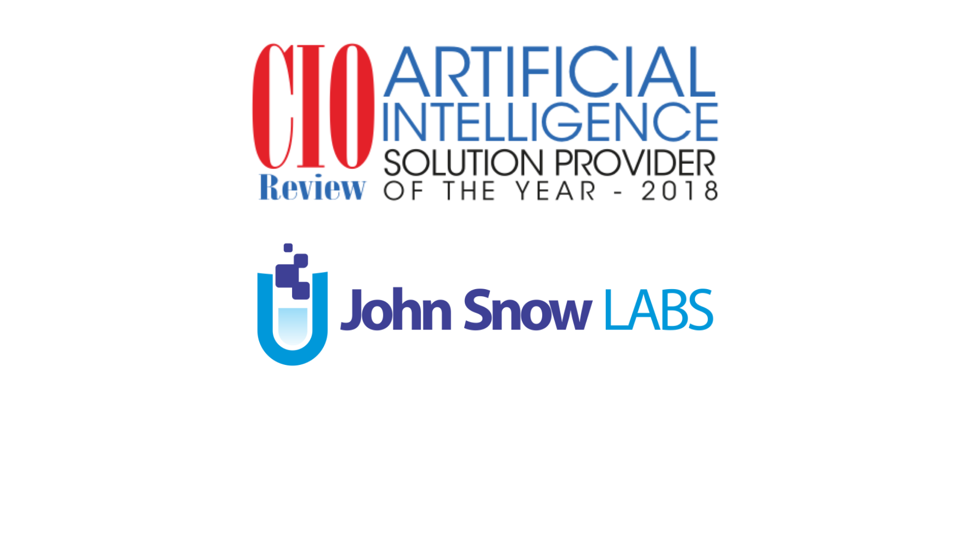 "John Snow Labs Named ""Artificial Intelligence Solution Provider of the Year"" by CIO Review"
